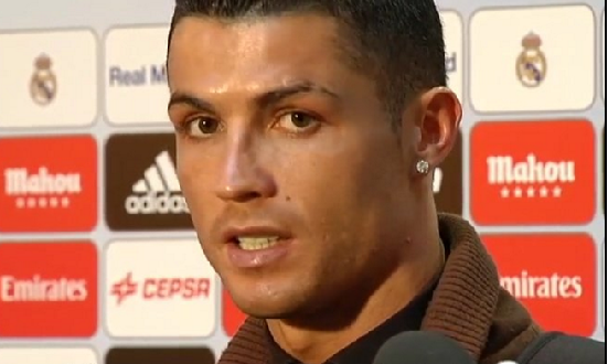 CRISTIANO RONALDO conferencia derbi a. madrid