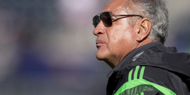 CHESTER, PA - OCTOBER 26: Head coach Leonardo Cuellar of Mexico watches his team warm up prior to the game against Trinidad & Tobago in the 2014 CONCACAF Women's Championship third place game on October 26, 2014 at PPL Park in Chester, Pennsylvania. (Photo by Mitchell Leff/Getty Images)