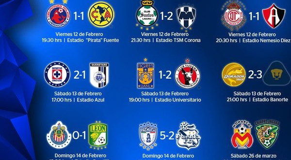 "... Results for ""Liguilla Mexicana 2016 Resultados"" – Calendar 2015"