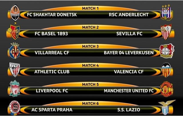 UEFEA EUROPA LEAGUE Octavos de Final 2015-16