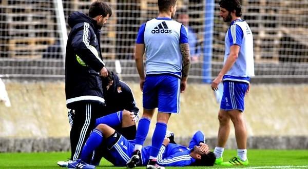 CARLOS VELA lesion entrenamiento