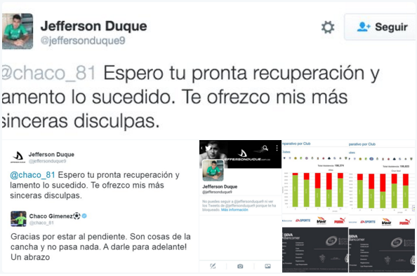 JEFFERSON DUQUE twit se disculpa