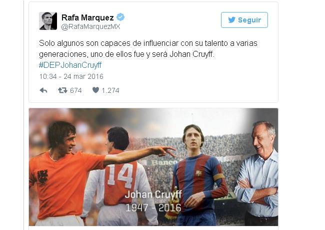 RAFAEL MÁRQUEZ tuit Cruyff