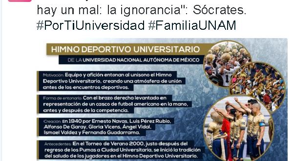 UNAM tuit contra Tomás Boy