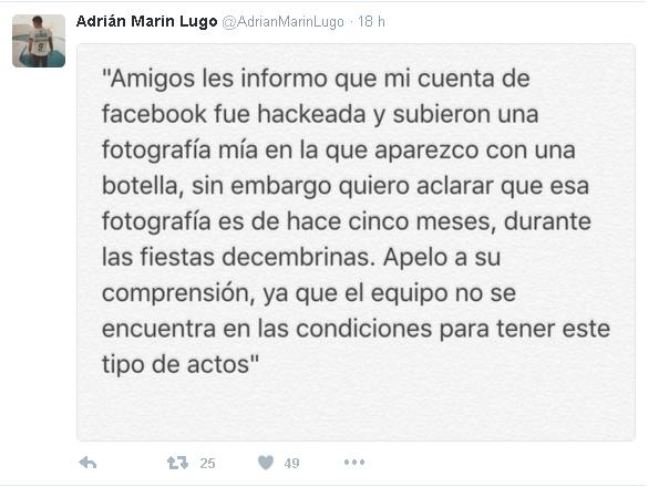 ADRIÁN MARÍN LIGO tuit
