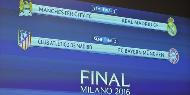 CHAMPIONS LEAGUE sorteo Semis