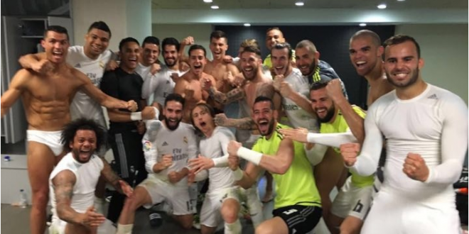 REAL MADRID festejo vestidor