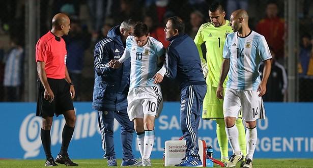 MESSI lesionado argentina