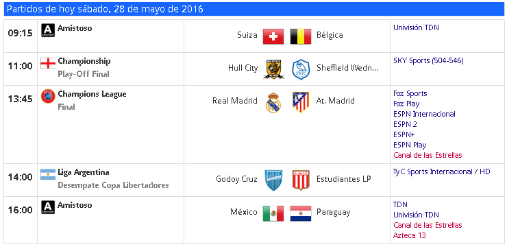 TV partidos sab-28-may