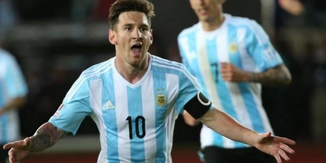 MESSI festejo argentina
