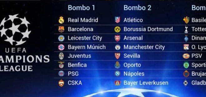 CHAMPIONS LEAGUE sorteo