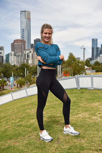 MELBOURNE, AUSTRALIA - JANUARY 19:  Eugenie Bouchard of Canada poses at the Canadian Club Racquet Club at Birrarung Marr during day two of the 2016 Australian Open at Melbourne Park on January 19, 2016 in Melbourne, Australia.  (Photo by Vince Caligiuri/Getty Images)