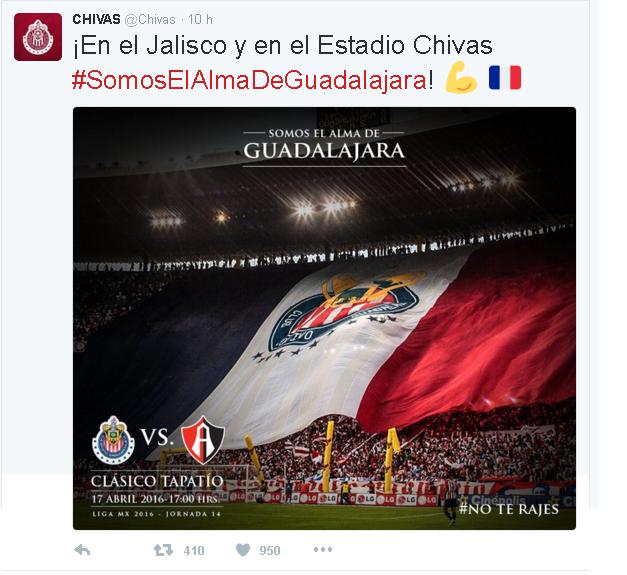 CLÁSICO TAPATÍO tuit