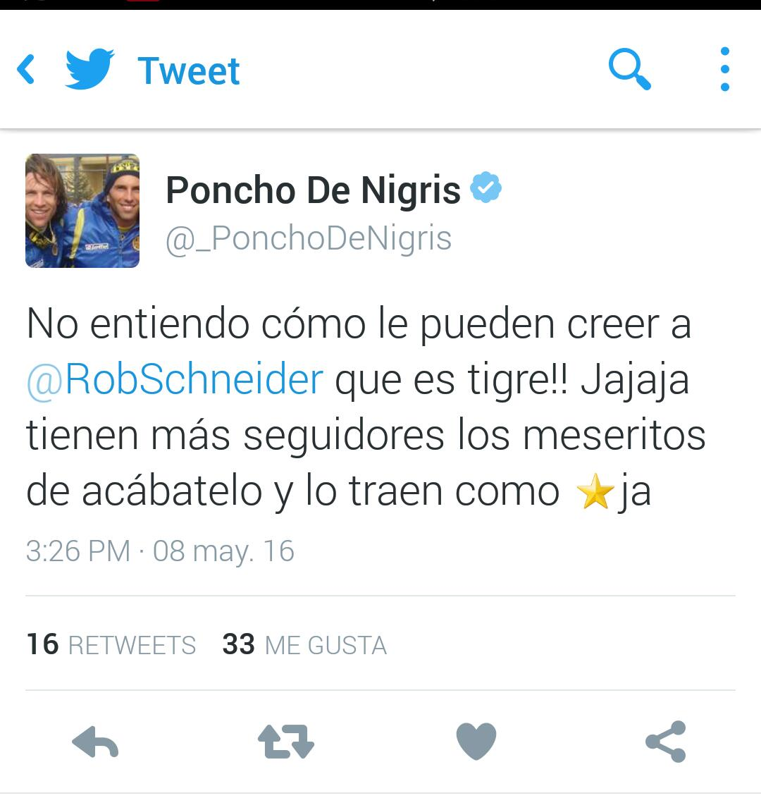 PONCHO DE NIGRIS tuit 1